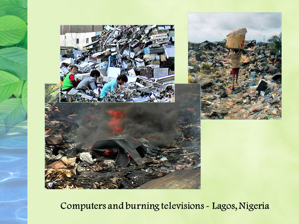 Computers and burning televisions - Lagos, Nigeria