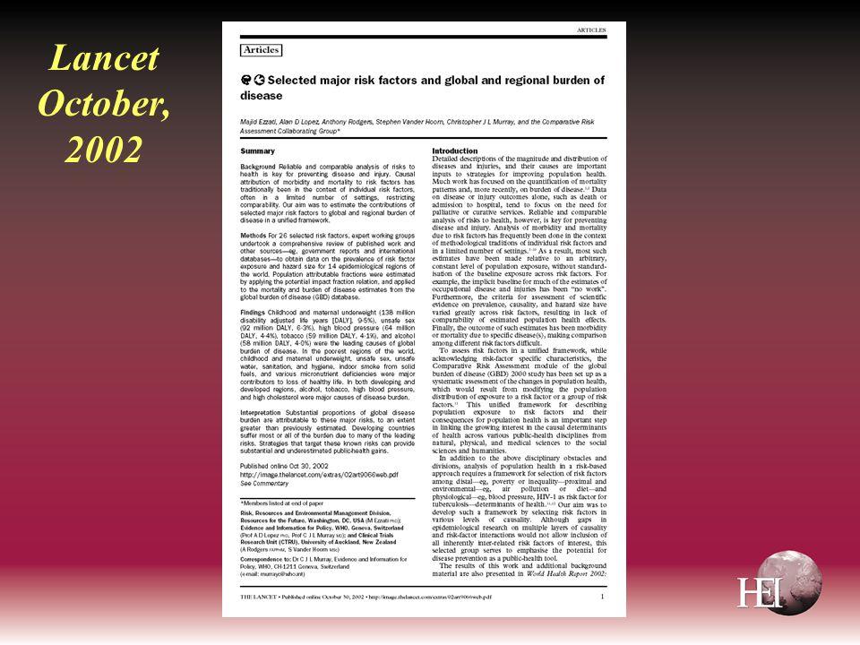 Lancet October, 2002