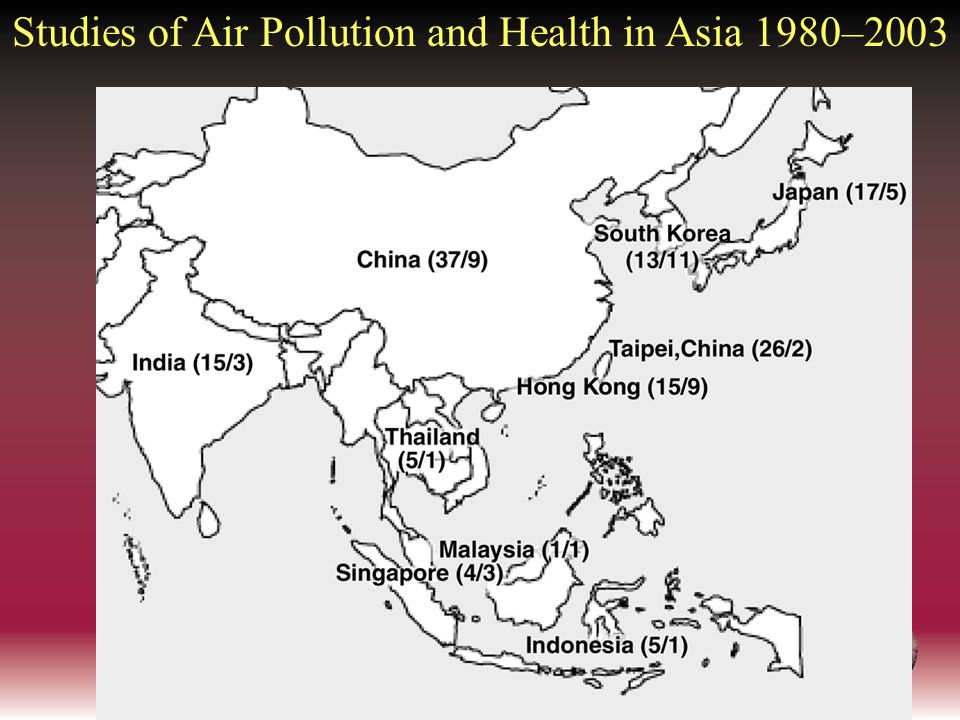 Studies of Air Pollution and Health in Asia 1980–2003