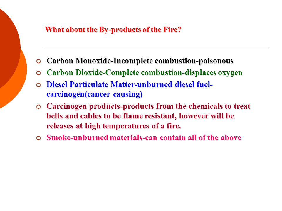 What about the By-products of the Fire.