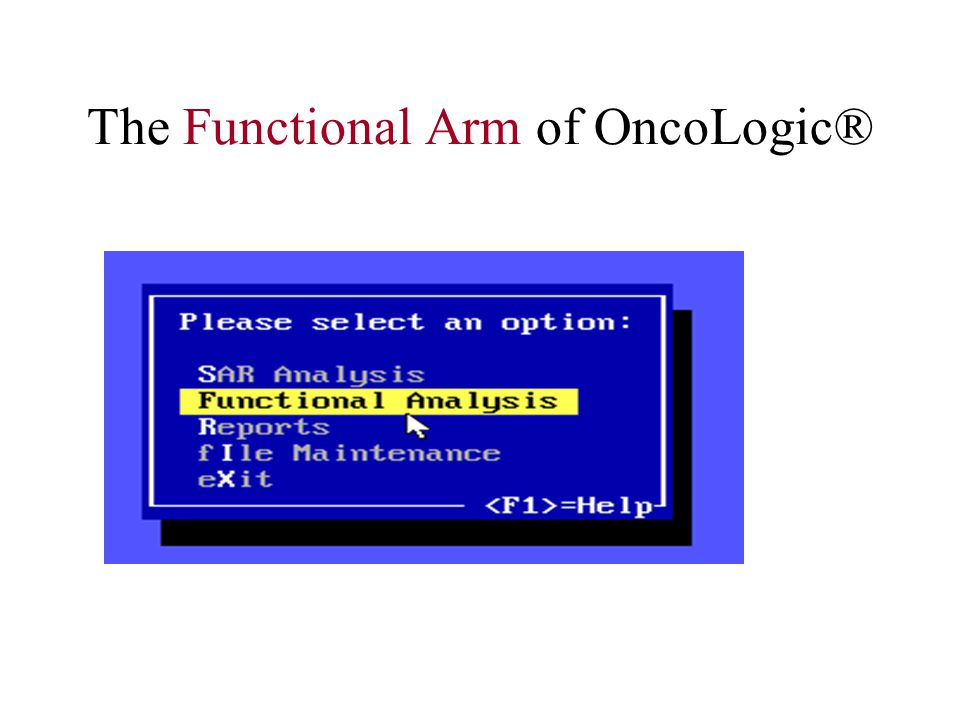 The Functional Arm of OncoLogic®