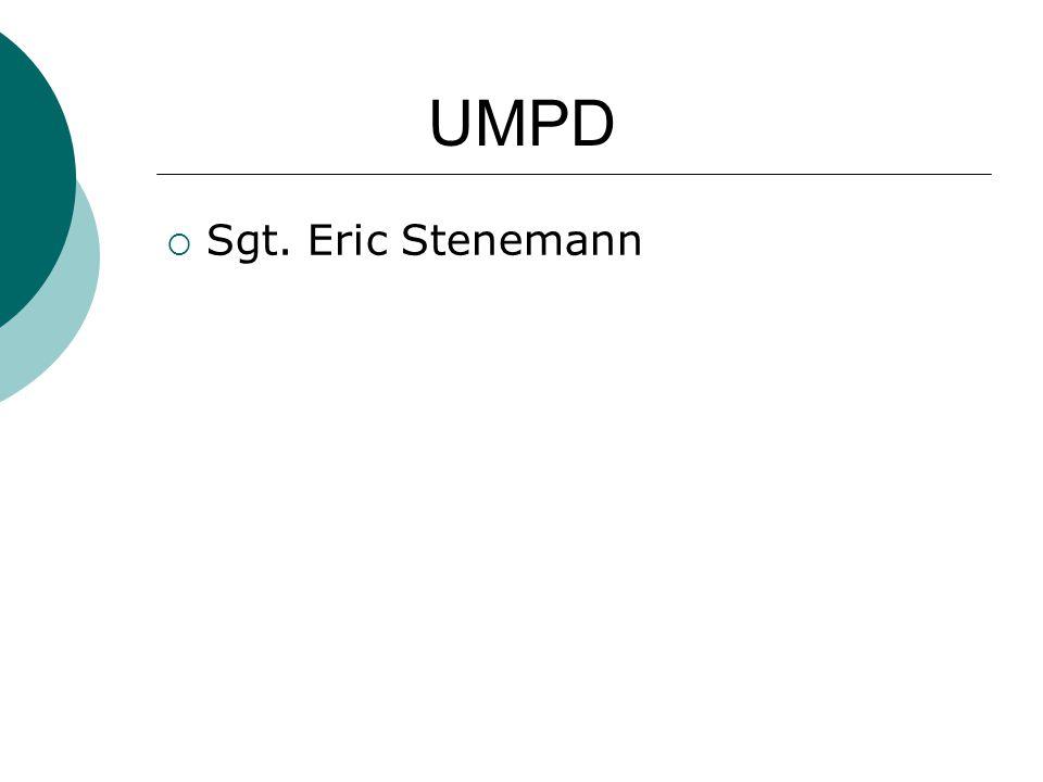  Sgt. Eric Stenemann UMPD