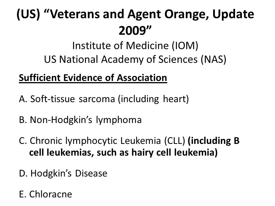 Sufficient Evidence of Association A. Soft-tissue sarcoma (including heart) B.