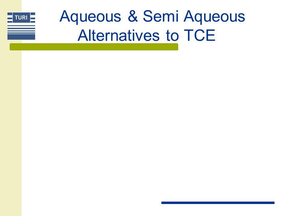 Aqueous & Semi Aqueous Alternatives to TCE