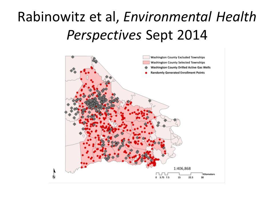 Rabinowitz et al, Environmental Health Perspectives Sept 2014