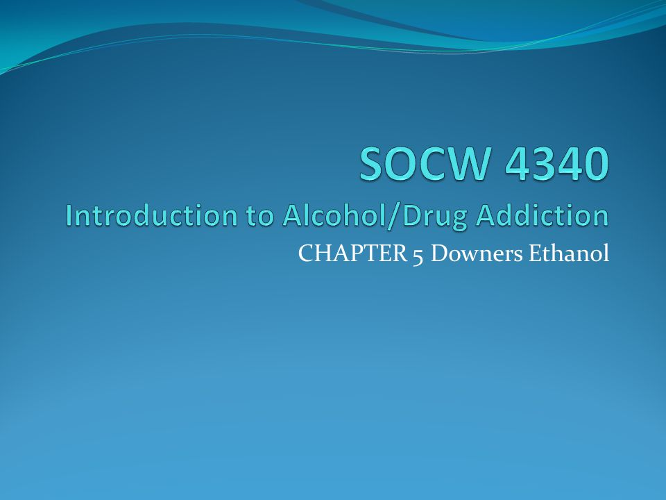 CHAPTER 5 Downers Ethanol
