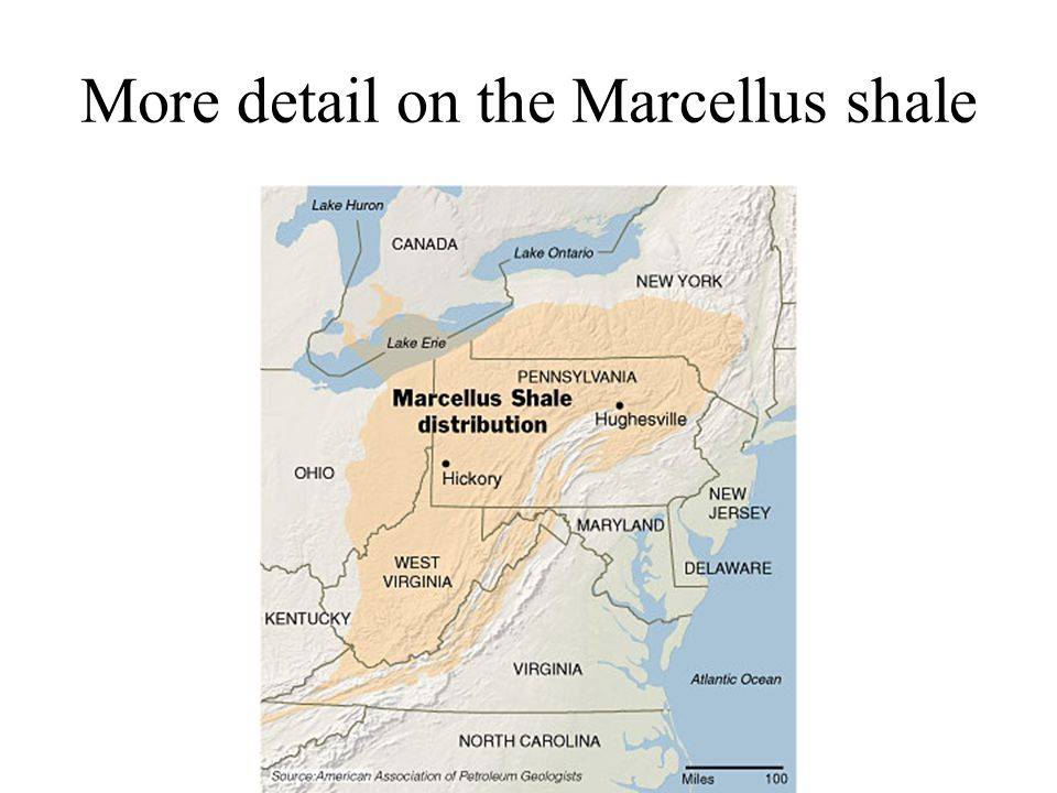 More detail on the Marcellus shale
