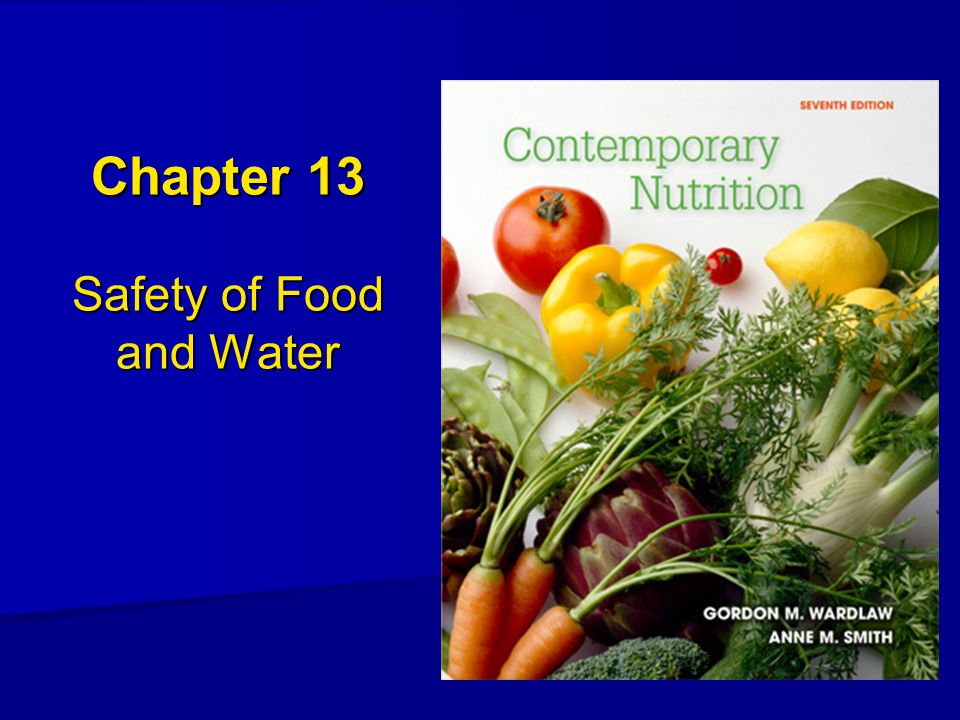 Chapter 13 Safety of Food and Water