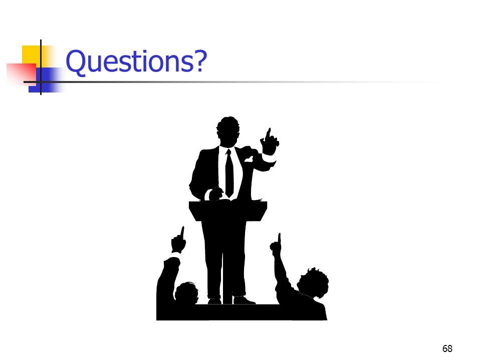 68 Questions?