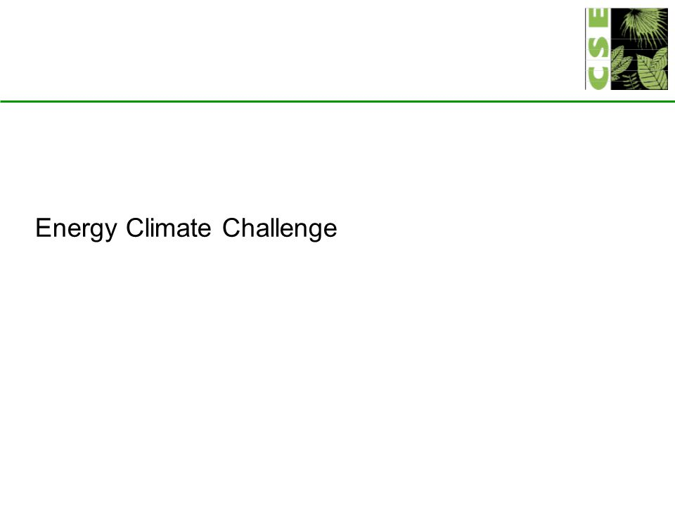 Energy Climate Challenge