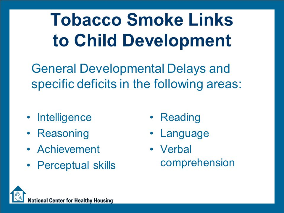 Adjusted Estimated RR of Child Behavior Problems by Tobacco Smoke Exposure * * * * * * * Williams, 1998 Estimated Relative Risk # cigarettes