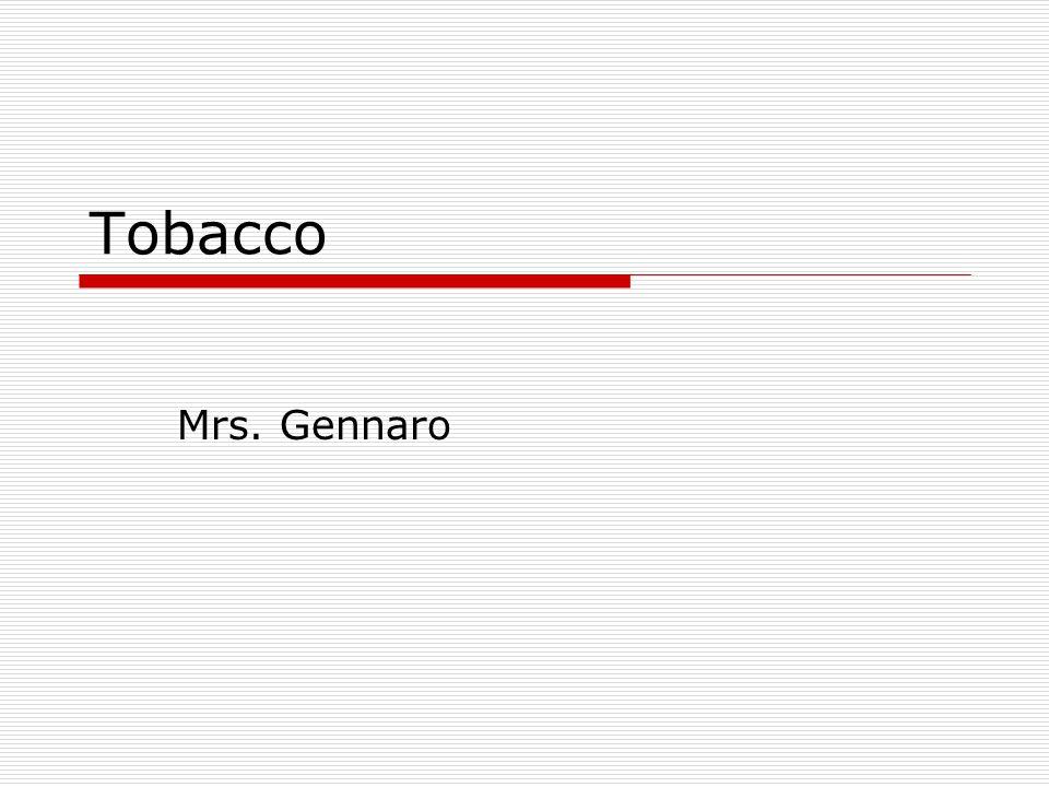 Tobacco Mrs. Gennaro