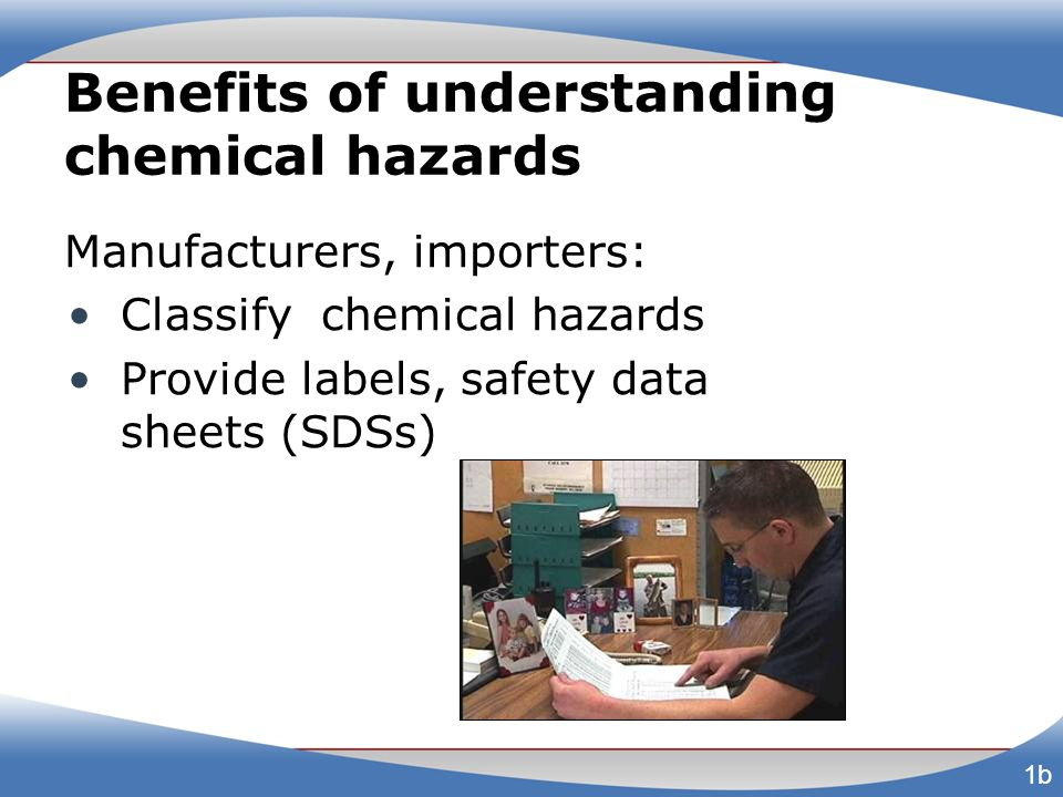 Material Safety Data Sheets (MSDS) Being replaced with SDSs MSDSs have no standardized format, but must include certain information 18a