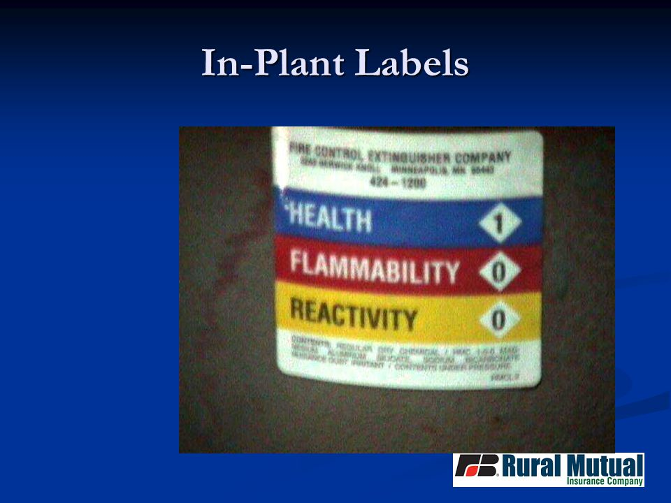 In-Plant Labels