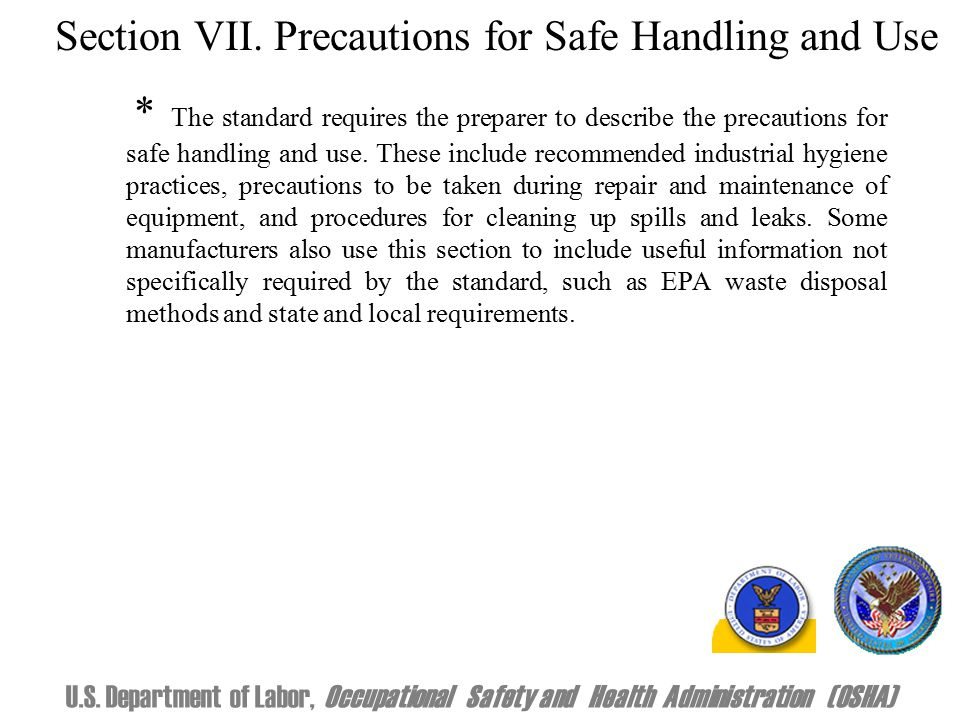 Section VII.