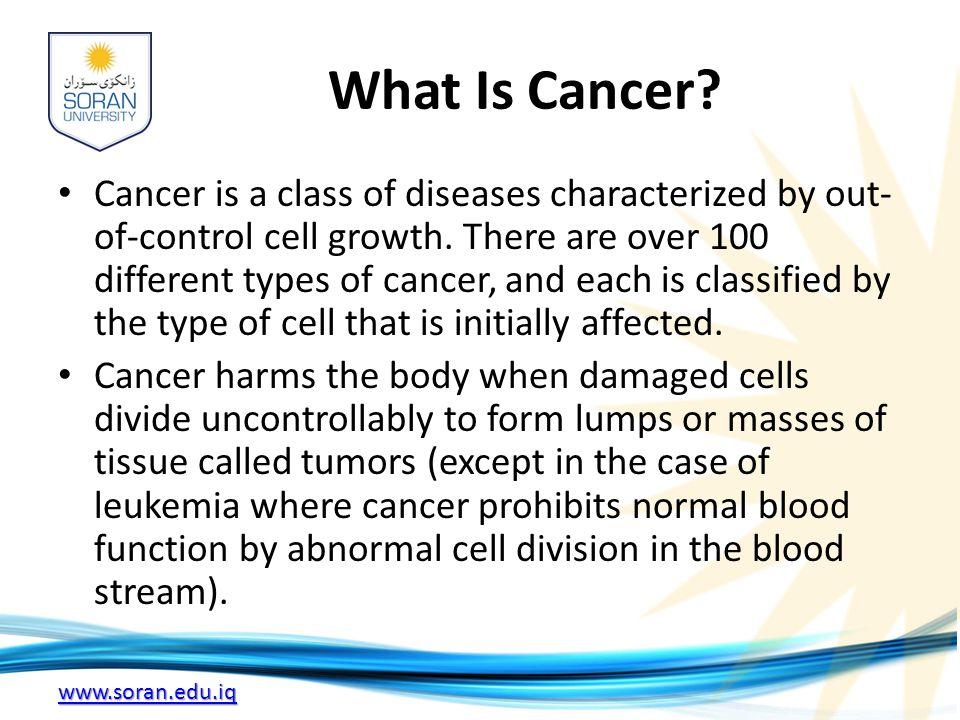 www.soran.edu.iq What Is Cancer.
