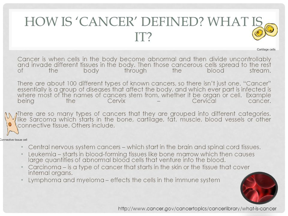 HOW IS 'CANCER' DEFINED. WHAT IS IT.