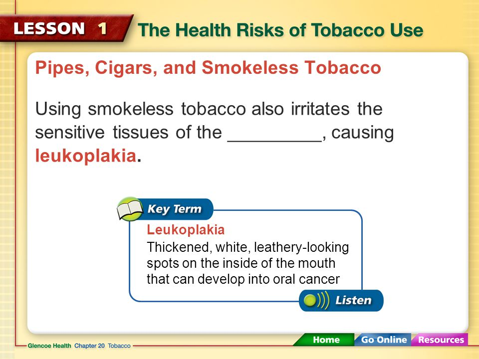 Pipes, Cigars, and Smokeless Tobacco The harmful chemicals of smokeless tobacco are absorbed into the body at levels up to _______________the amount o