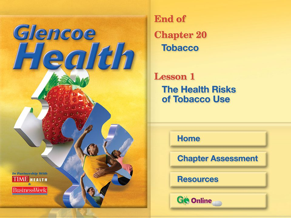 After You Read Reviewing Facts and Vocabulary 3.Explain four ways using tobacco immediately affects your body. Any four: Brain chemistry changes; resp