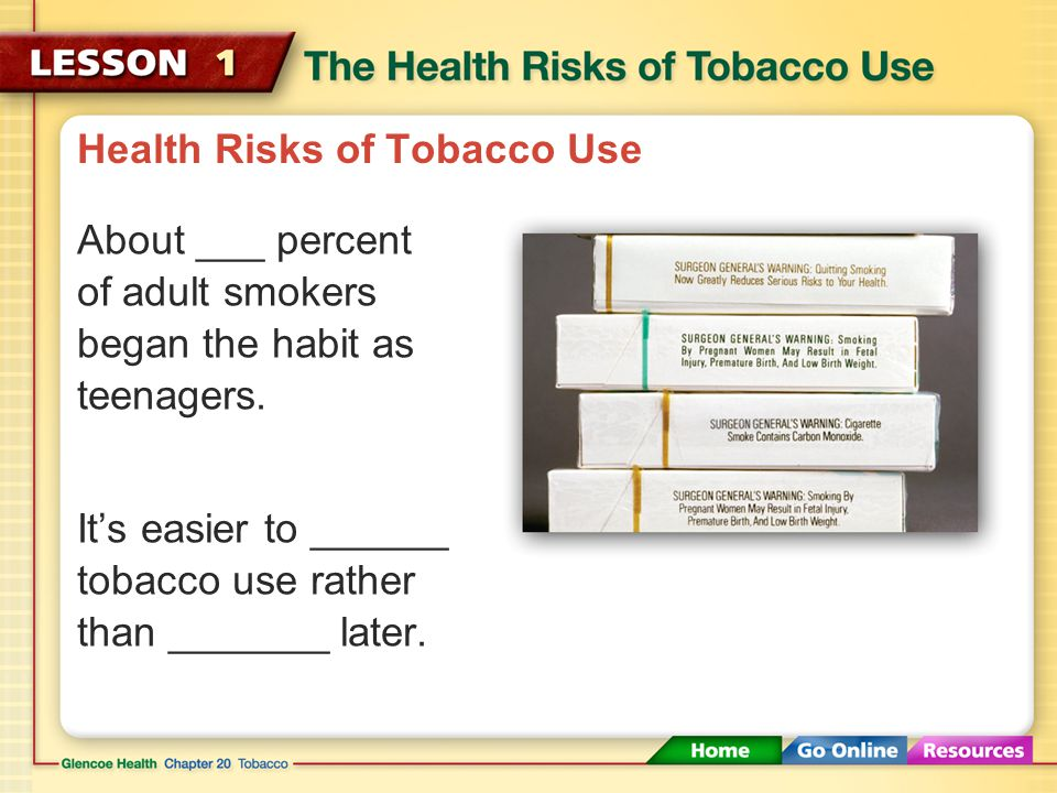 Pipes, Cigars, and Smokeless Tobacco The smoke from ______ and ________also causes serious health consequences.