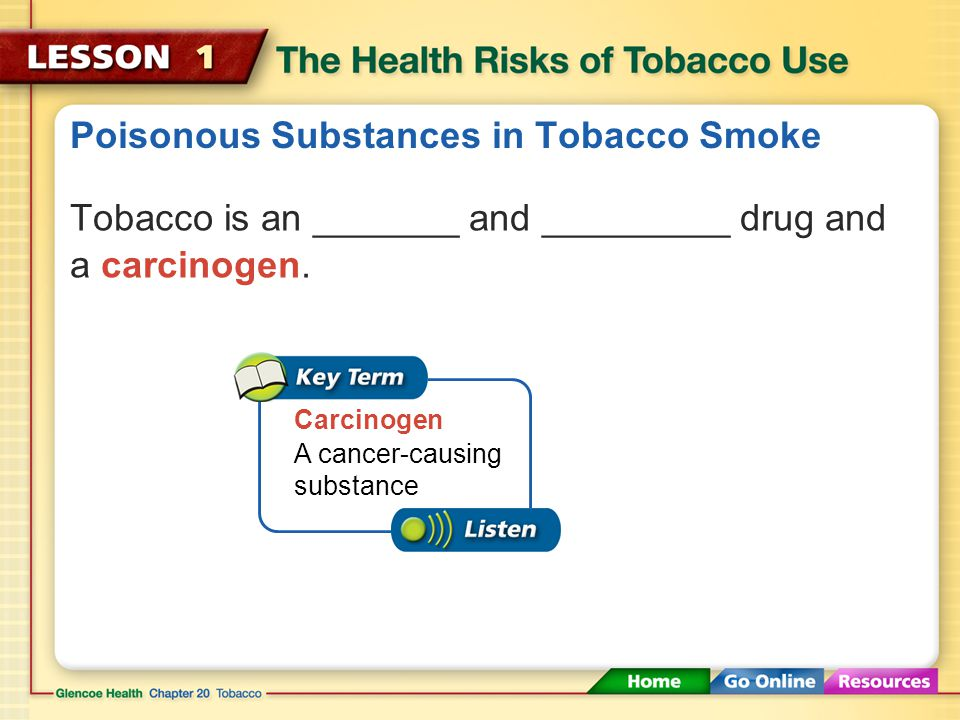 After You Read Reviewing Facts and Vocabulary 3.Explain four ways using tobacco immediately affects your body.
