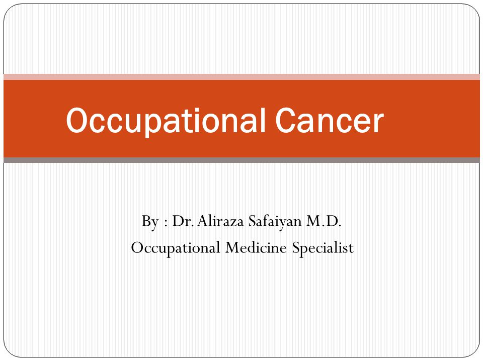 Introduction  One of every two or three individuals in the industrialized world will develop some type of cancer during their lifetimes  Approximately 3-10% of all human cancers are thought to be caused by occupational exposure to carcinogens  It is estimated that approximately 20,000 cancer deaths and 40,000 new cases of cancer each year in the U.S.