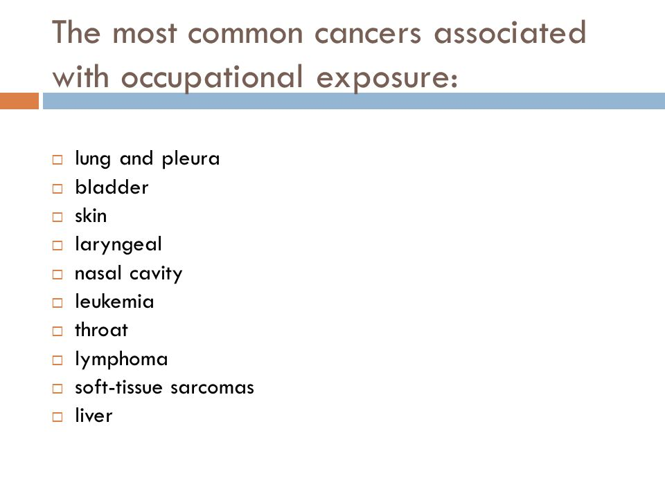 Bladder cancer (prevention)  Avoidance of exposure  Medical monitoring : Urinary cytology (75% Sen.