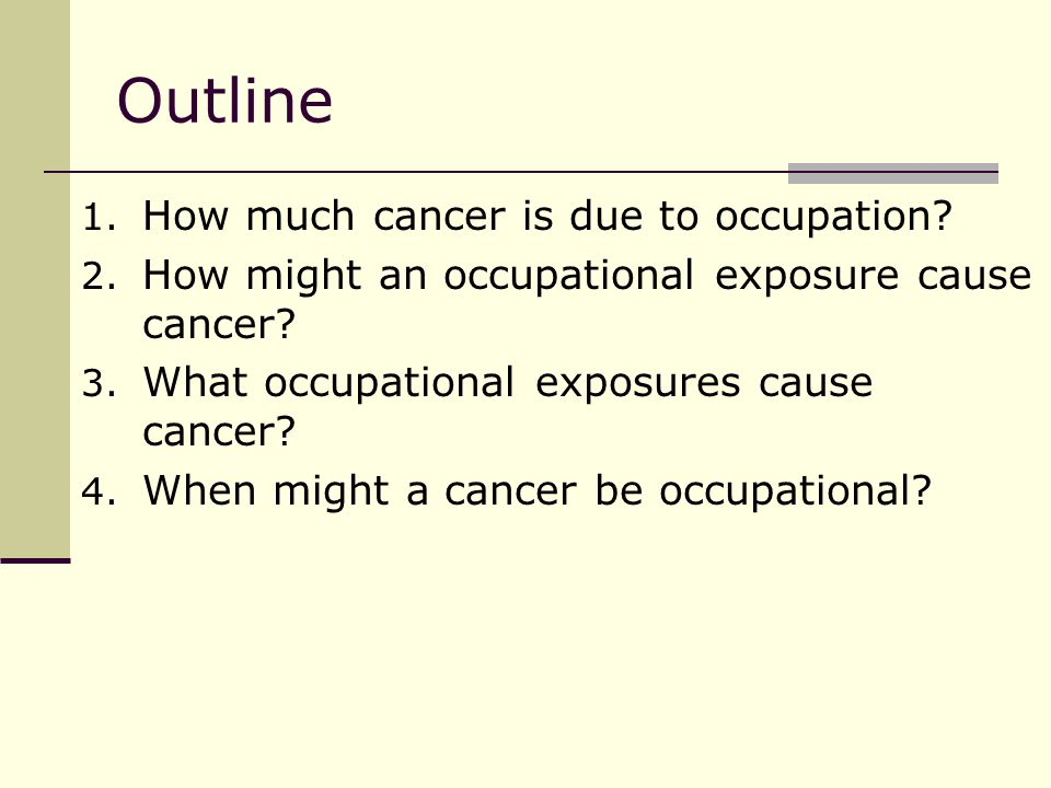 The first recognized occupational cancer (1775).