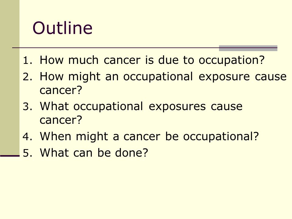 The most recently recognized occupational cancer.