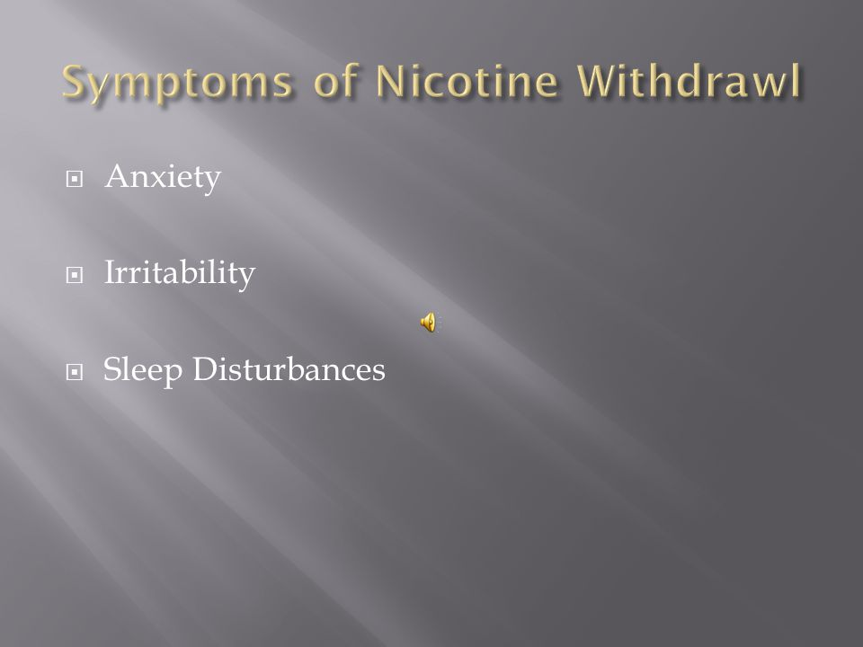  Nicotine is a stimulant that raises blood pressure and increases the heart rate. Stimulant A drug that increases the action of the central nervous s