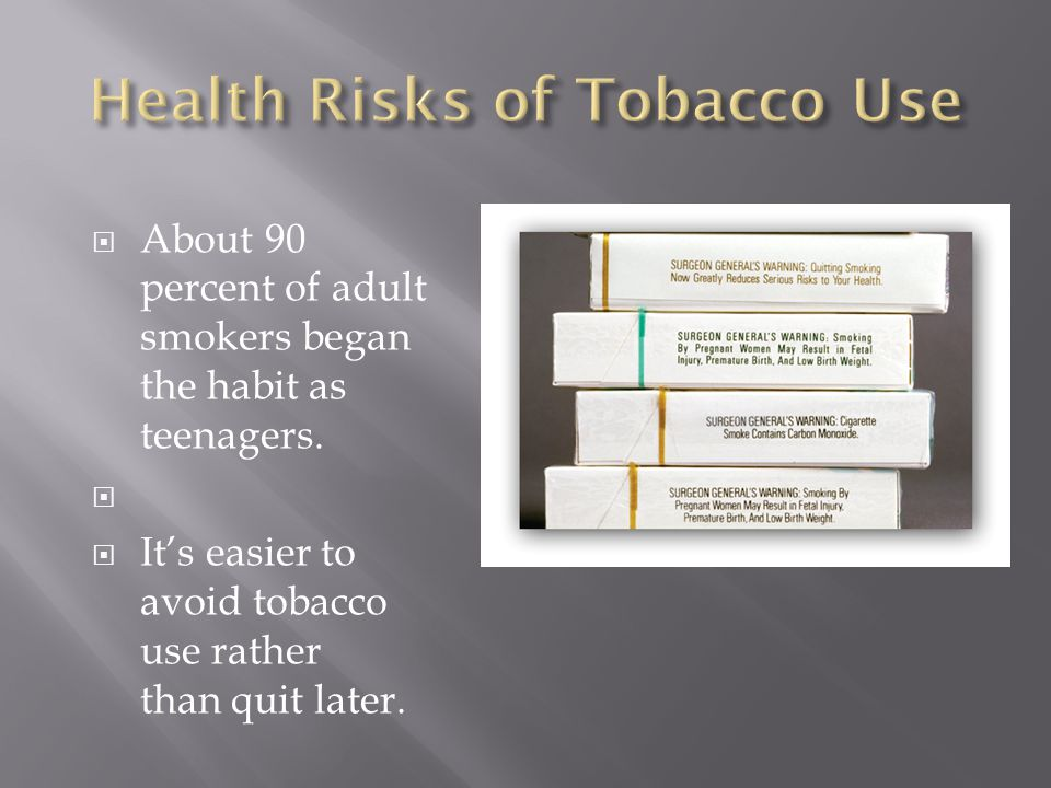 As well as health risks, tobacco use is costly.