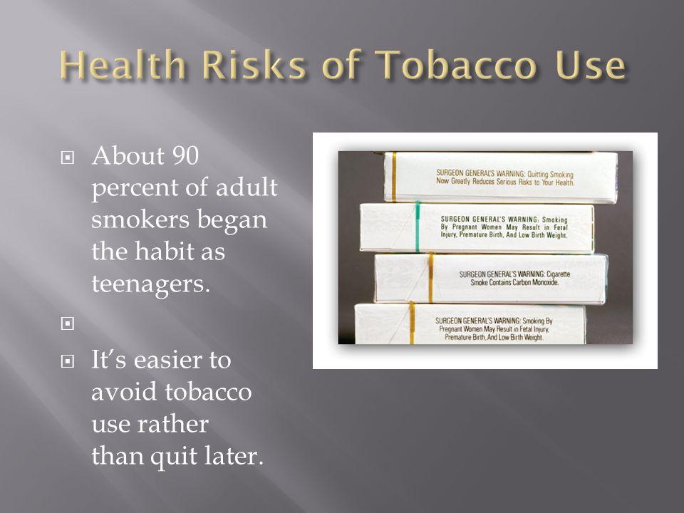 Tobacco smoke can harm nonsmokers.