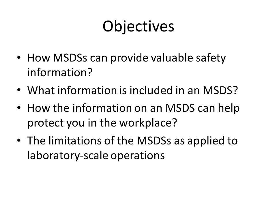 MSDS (Getting to Know MSDS) What is an MSDS.What is an MSDS.
