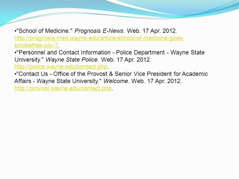 School of Medicine. Prognosis E-News. Web. 17 Apr.
