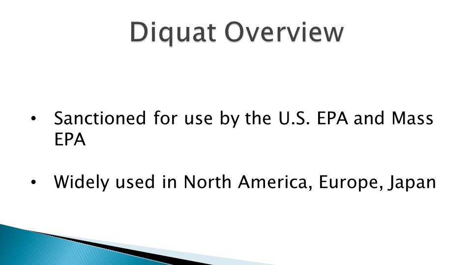 Sanctioned for use by the U.S. EPA and Mass EPA Widely used in North America, Europe, Japan