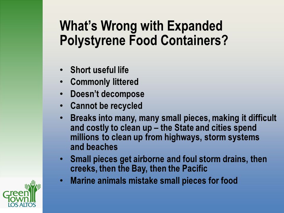 What's Wrong with Expanded Polystyrene Food Containers.