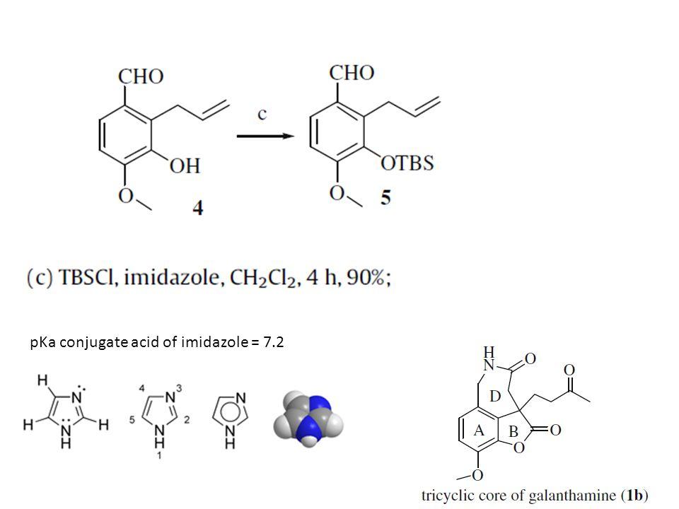 pKa conjugate acid of imidazole = 7.2
