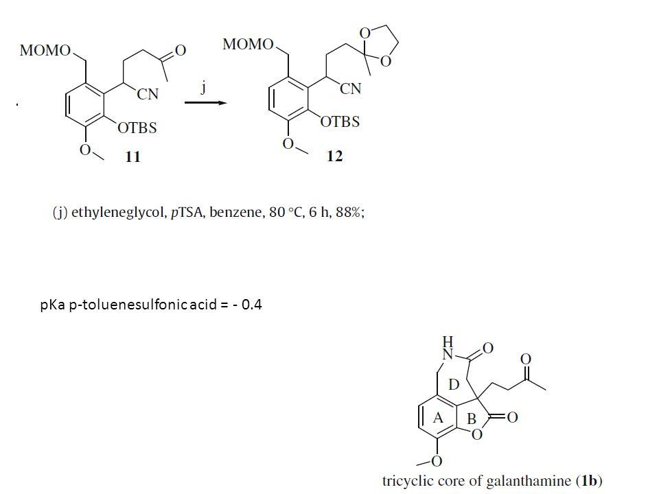 pKa p-toluenesulfonic acid = - 0.4