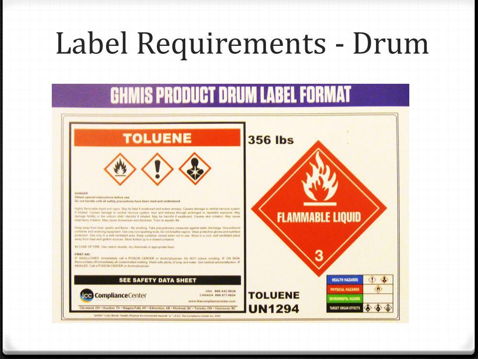 Label Requirements - Drum