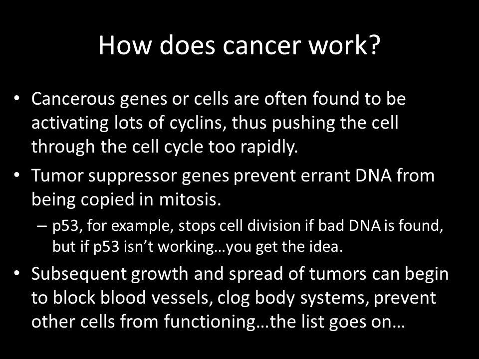How does cancer work.