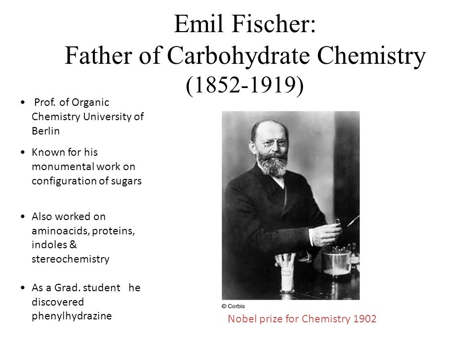 Emil Fischer: Father of Carbohydrate Chemistry (1852-1919) Prof.