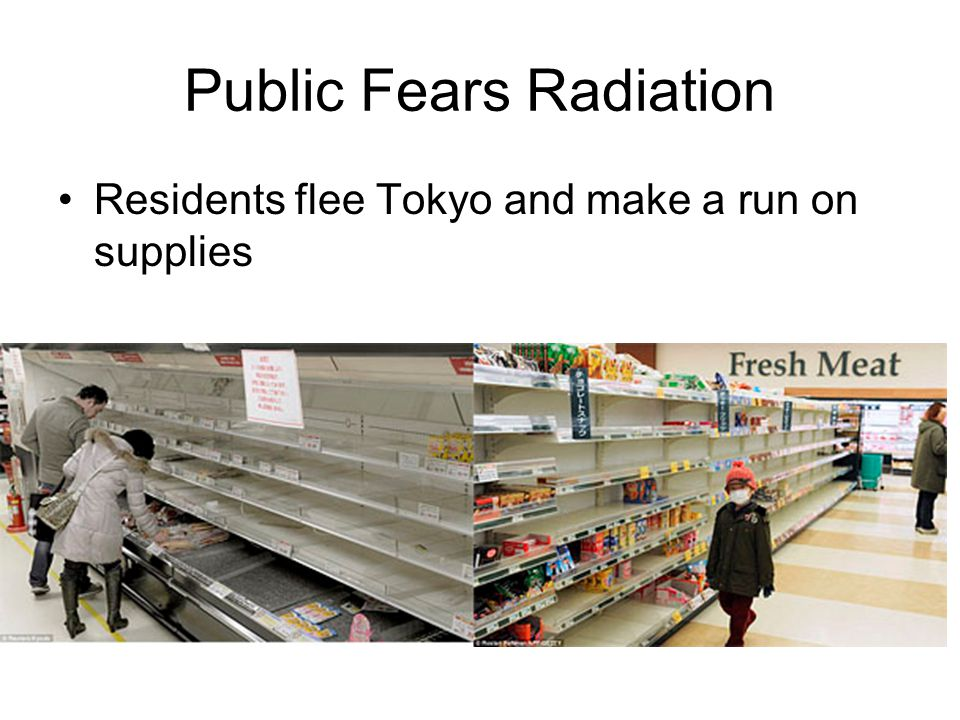 Public Fears Radiation Residents flee Tokyo and make a run on supplies