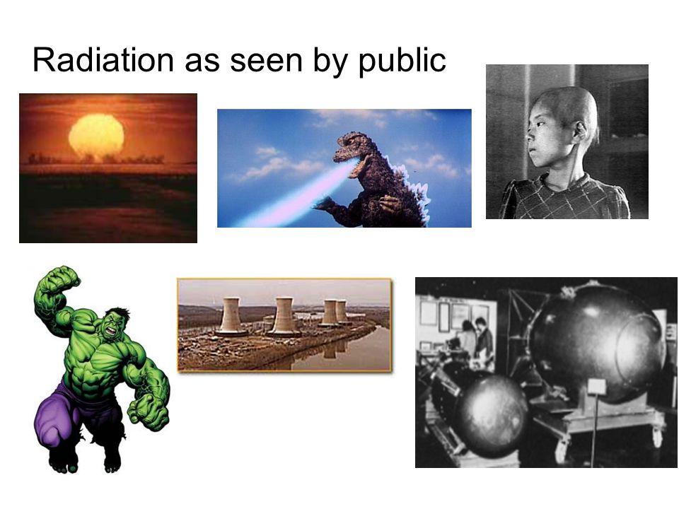 Radiation as seen by public