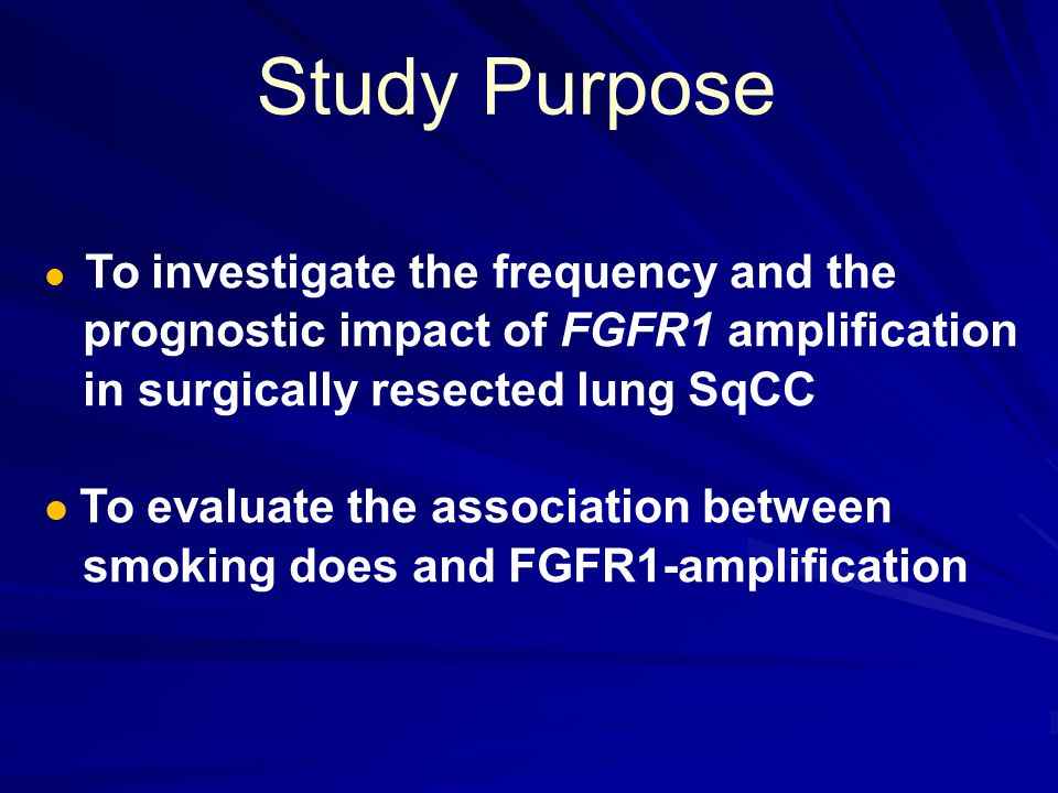 Patient and Method SqCC patients that underwent radical resection of a primary lung cancer at Severance Hospital between 1998 and 2009.