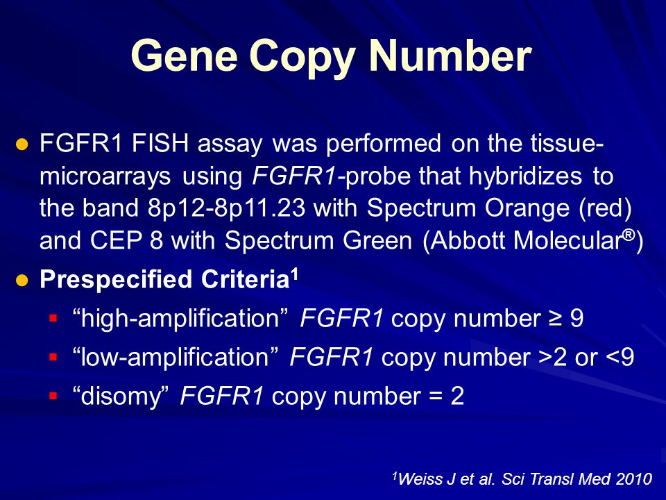Conclusion: FGFR1 Amplification- A New Druggable Target in SqCC The first high-frequency (13%) therapeutic target of smoking-associated SqCC The first high-frequency (13%) therapeutic target of smoking-associated SqCC FGFR1 amplification induced a strong FGFR1 dependency in FGFR1 amplified SqCC FGFR1 amplification induced a strong FGFR1 dependency in FGFR1 amplified SqCC FGFR1 amplification is a negative prognostic factor in resected lung SqCC FGFR1 amplification is a negative prognostic factor in resected lung SqCC FGFR1-amplification is associated with cigarette- smoking in a dose-dependent manner FGFR1-amplification is associated with cigarette- smoking in a dose-dependent manner  Strongly implies that FGFR1-amplification is an oncogenic-aberration caused by tobacco-carcinogen