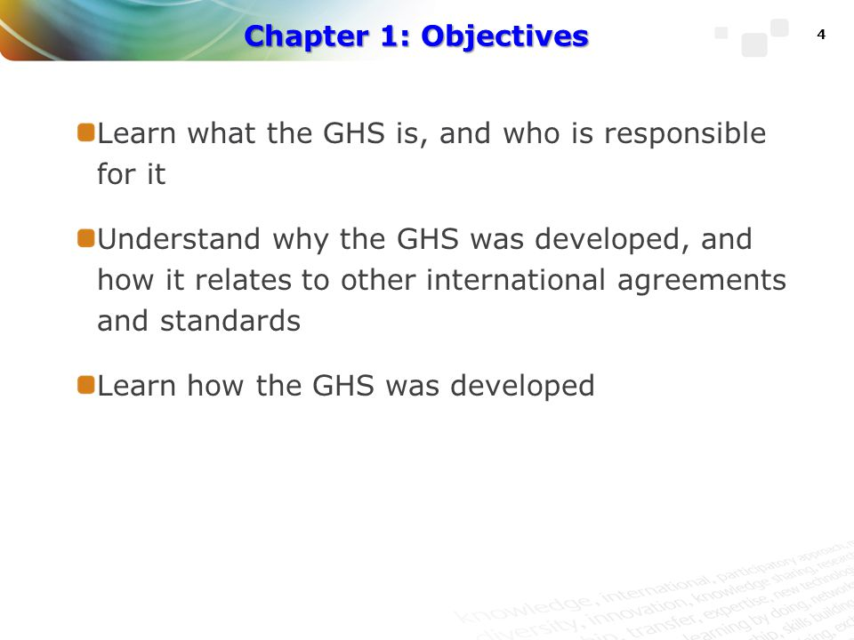 The GHS addresses these issues Provides a chemical classification and labelling system that is updated and maintained internationally Includes provisions for a common and coherent approach to classifying hazards and preparing labels and safety data sheets Results in more effective communication worldwide Facilitates trade in chemicals 15