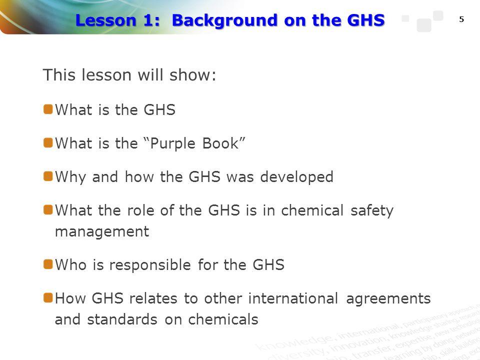 UNITAR/ILO Approach for GHS Implementation 86