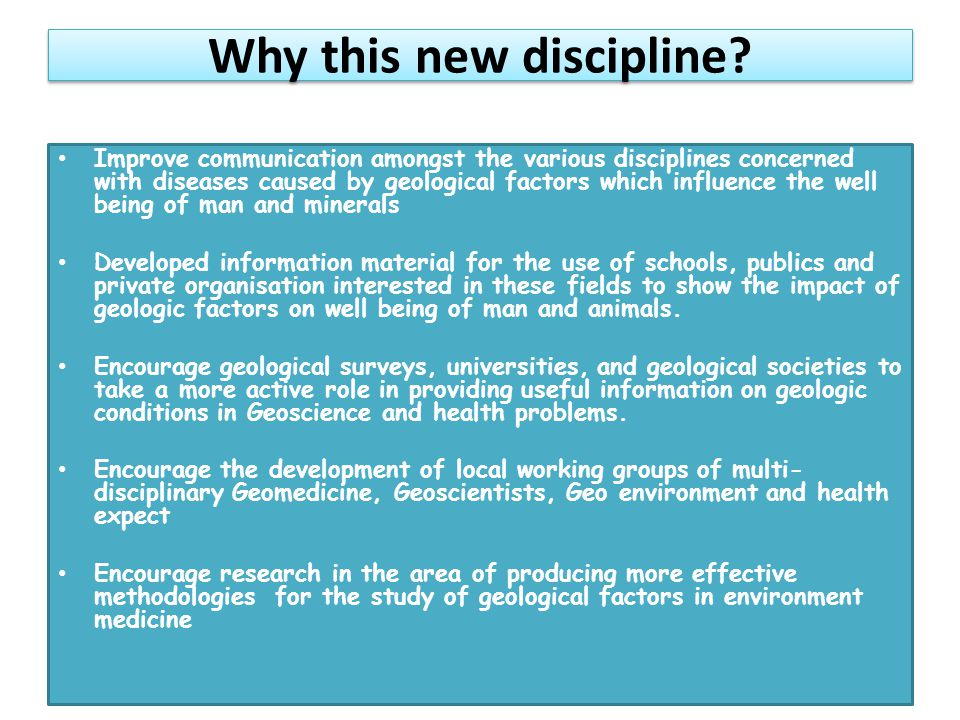 Why this new discipline.