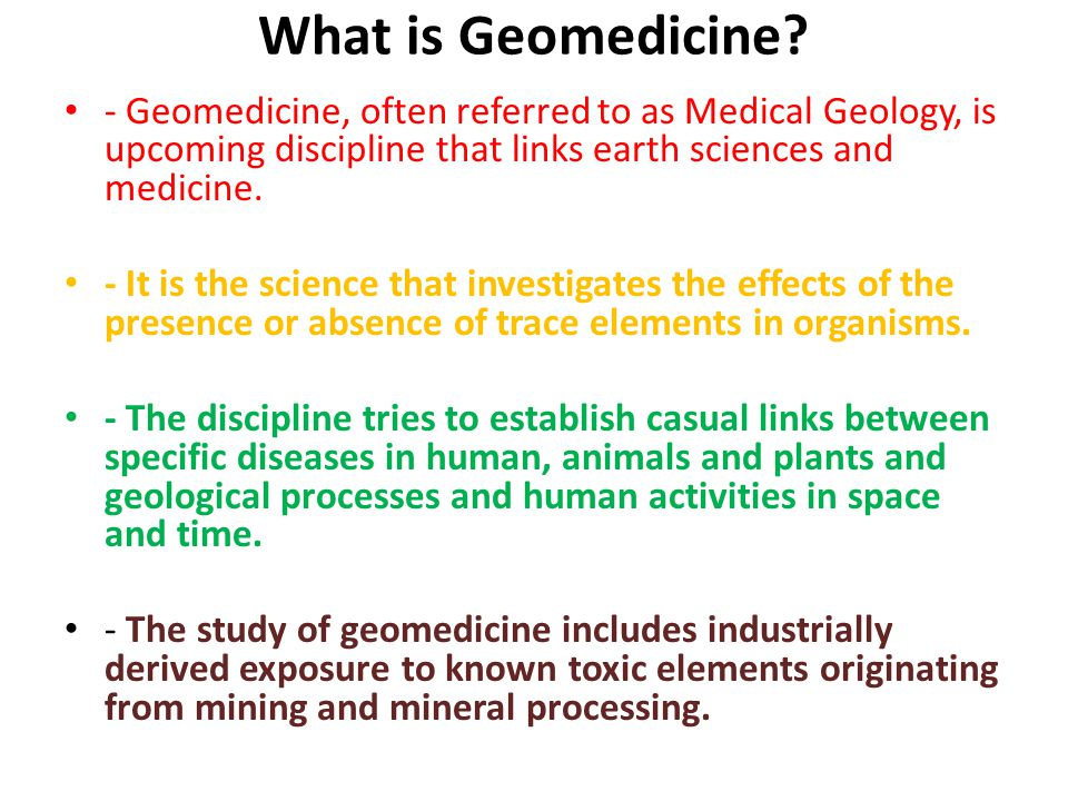 What is Geomedicine.