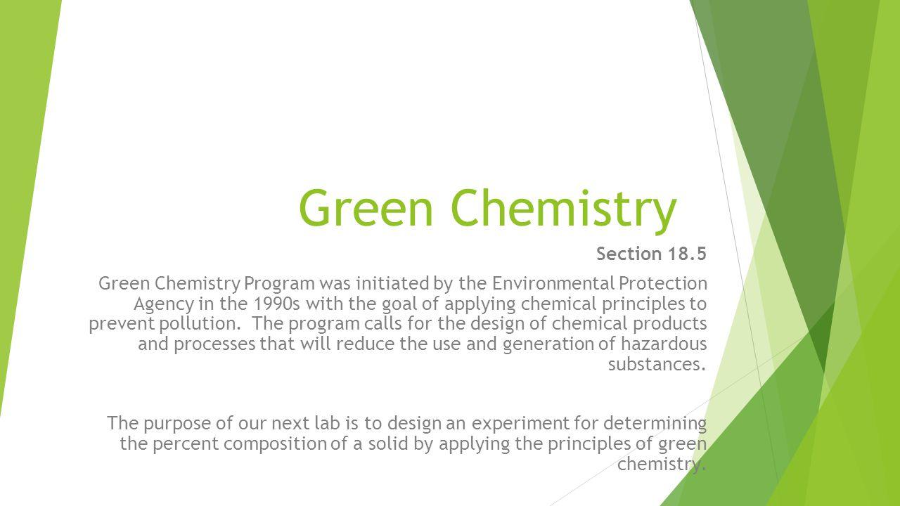 Green Chemistry Principles 12.